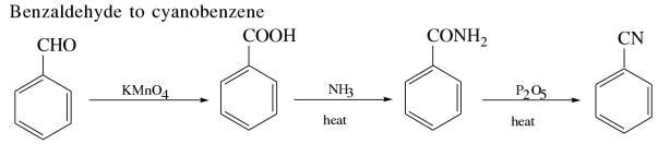 1j Benzaldehyde to cyanobenzene