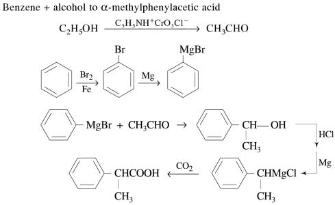 1j Benzene and alcohol to alpha methylphenylacetic acid