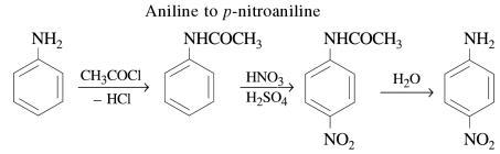 1k Aniline to p-nitroaniline
