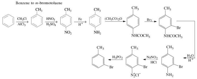 1l Benzene to m-bromotoluene