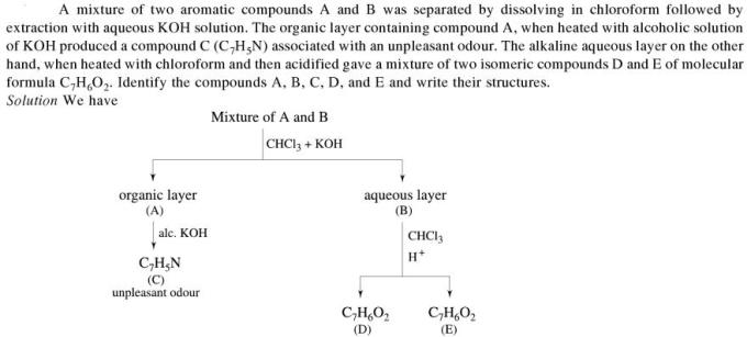 1l mixture of two aromatic compounds A and B