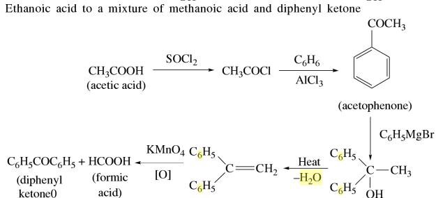 1m Ethanoic acid to a mixture of methanoic acid