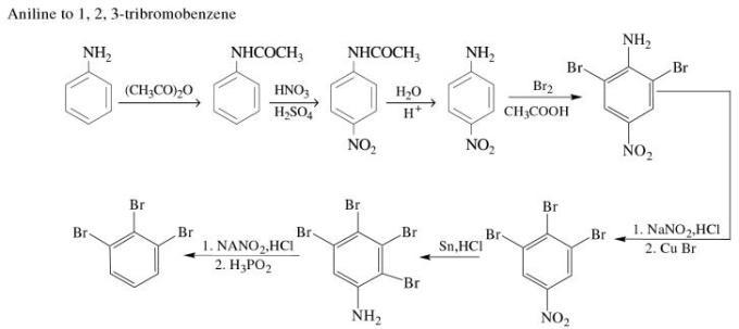 1n Aniline to 1,2,3-tribromobenzene