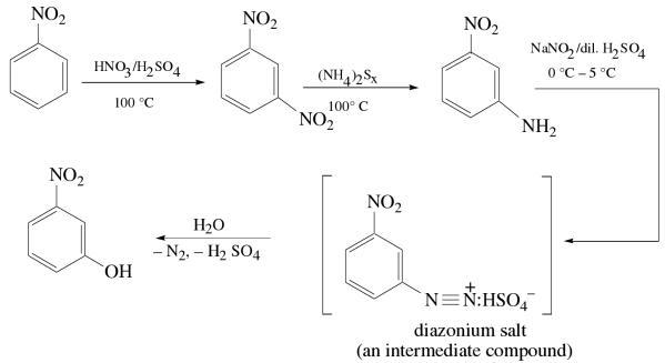 1n Convert Benzoicacid meta fluro benzoic acid
