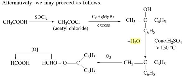 1n Ethanoic acid to a mixture of methanoic acid
