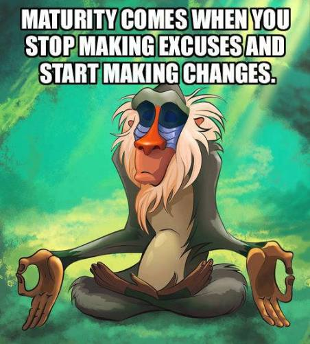 24 Stop making excuses