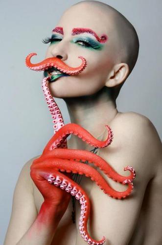 3 Octopus woman makeup