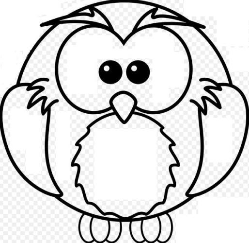 3 Owl from circle trick cartoon drawing technique