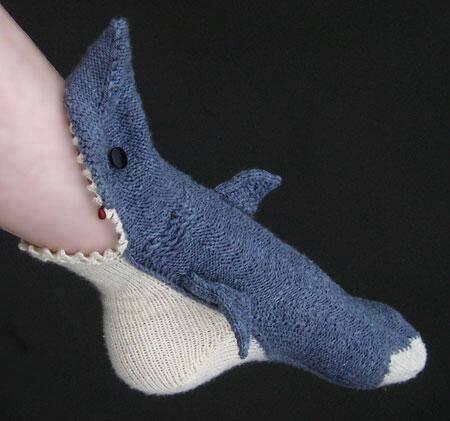 3 socks eating the leg