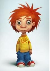 4 Red haired boy cartoon