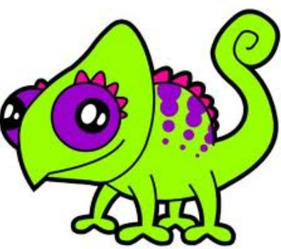 4 Zuhu cartton green lizard