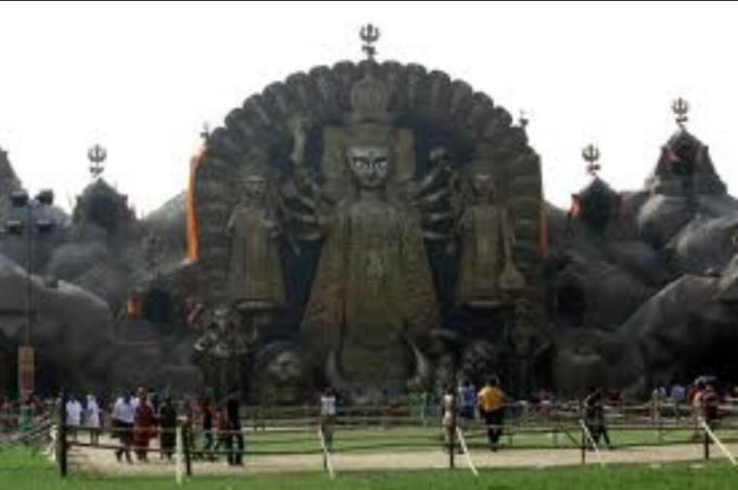 9 Eto unchu dugga Thakur Durga Black kalo pathorer moto stone