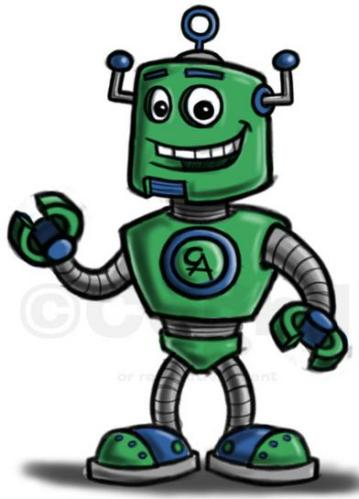 9 robot cartoon character