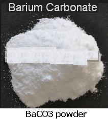 1 BaCO3 Barium Carbonate is white