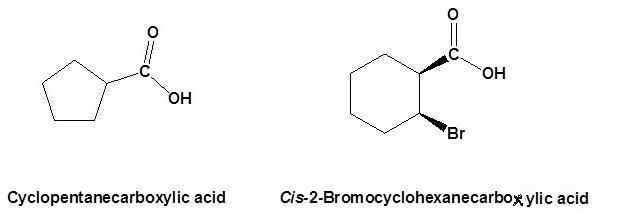 10 cyclopentanecarboxylic acid cis-2-Bromocyclohexanecarboxylic acid