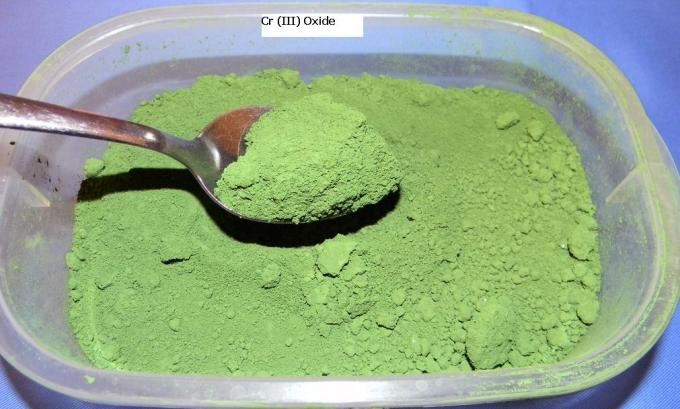 11 Chromium 3 oxide Cr ( III ) oxide is green