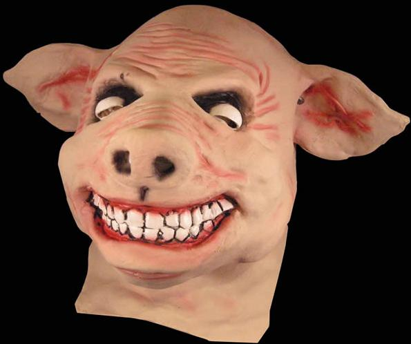 11a person with pig mask