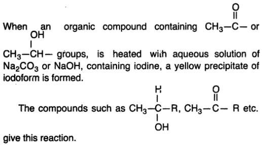 12 Iodoform reaction
