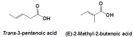 14 Trans-3-pentenoic acid and (E)-2-Methyl-2-butenoic acid SKMClasses Bangalore