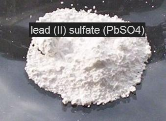 15 PbSO4 Lead sulphate is white