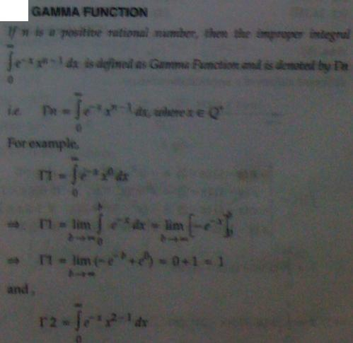 1a Gamma Function Integral Calculus