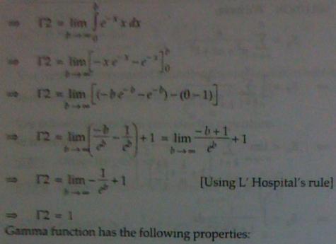1b Gamma Function Integral Calculus