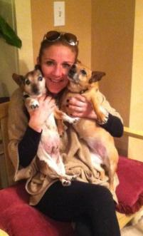1b Woman with her fifis dogs