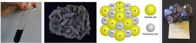 2 PbS Lead Sulfide is Black