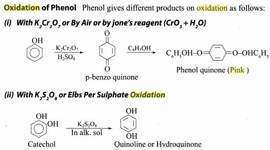 24b Phenolquinone is red pink