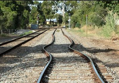 2a Rail line bent buckled by heat