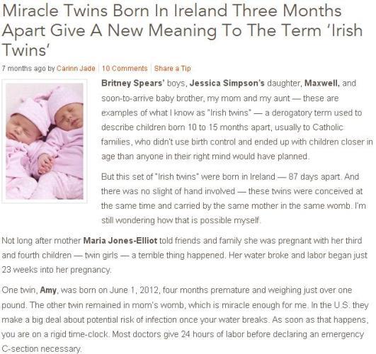 2l Twins born 3 months apart