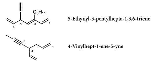 35 ethynul pentylhepta triene vinylhept ene yne SKMClasses