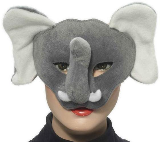 3d Girl with elephant mask