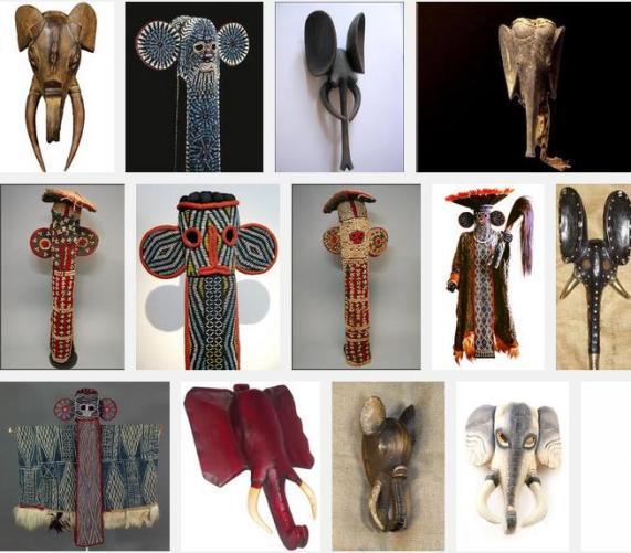 3s many elephant masks