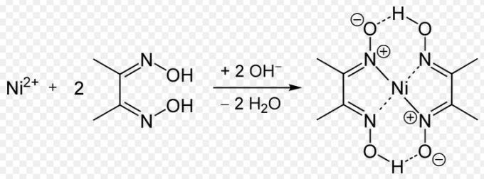 4 Add NH4OH excess and dimethylglyoxime to NiCl2 then a rosy red ppt of nickel appears