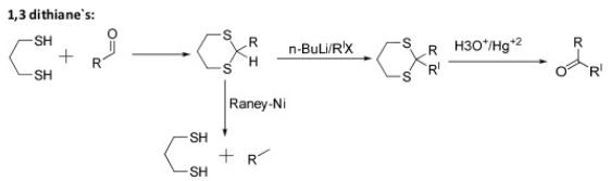 42 Peterson's synthesis silyl wittig reaction 1,3 dithianes