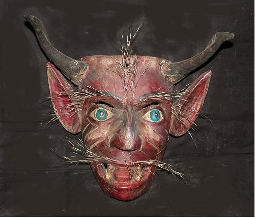 4b red fearful haloween mask