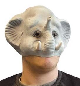 4d man with gray elephant mask