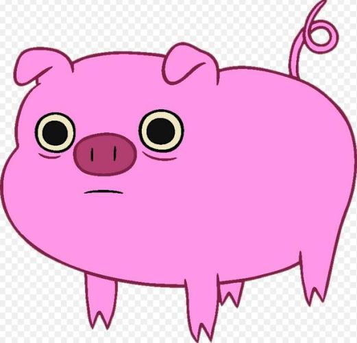 4e pink pig cartoon