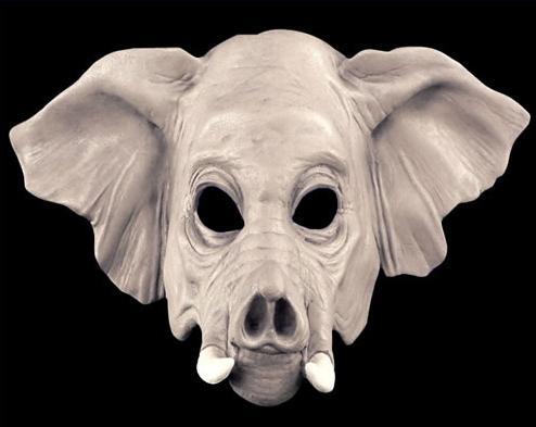4j gray elephant mask