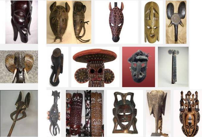 5t many elephant masks