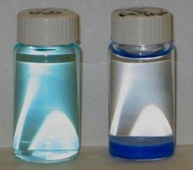 6 CuO + B2O3 (Glassy bead) Cu(BO2)2 (Copper metabolite - blue)