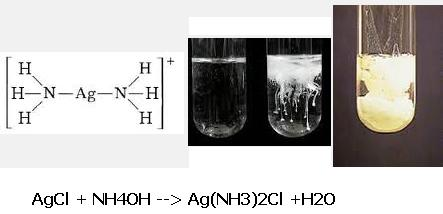 7 AgCl + NH4OH Ag(NH3)2Cl +H2O