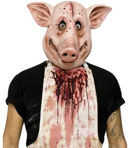 7a person with pig mask