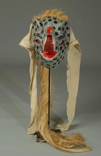 7d Elephant mask with jute fibers