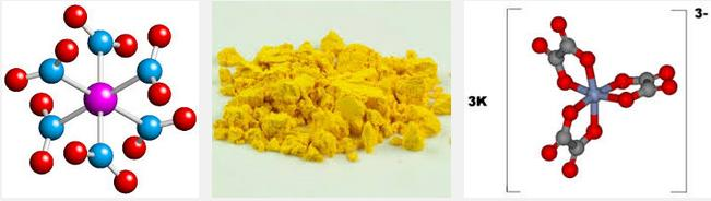 8 Co(NO2)3 + KNO2 K3[Co(NO2)6] (yellow)