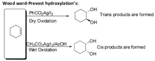 82 Wood ward prevost hydroxylation