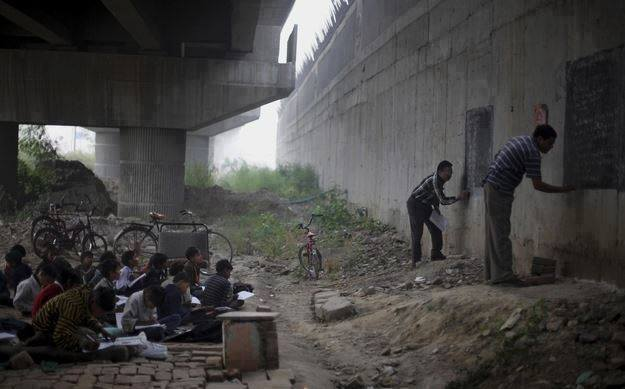8f school under the road flyover