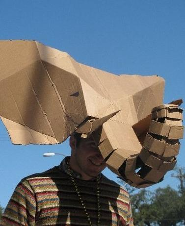 8g elephant mask out of cardboard
