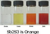 9 Sb2S3 is Orange